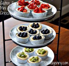 Gluten Free Mini FruitCheesecakes