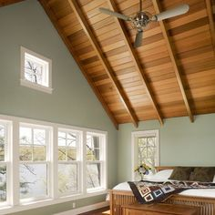 Awesome Another Room W/ Cedar Paneled Ceiling U0026 Painted Walls.