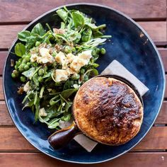 Lamb Pot Pie with Pea Mint and Feta Salad @kitchen2c #adelaide #healthyeating #healthy #healthyeatinghabits #healthychoices #healthyfood #healthyeatings #fitfam #eatclean #healthylifestyle #health #fitness #weightloss #goals #foodporn #cleaneating #getfit #fit #bestoftheday #behealthy #instafood #healthychoices4ahappylife #exercise #workhard #weightlossjourney #stronger #nutrition #noexcuses #healthyliving #foodie by adelaidefoodcentral Healthy Eating Habits, Healthy Living, Feta Salad, Fitness Weightloss, Pot Pie, Healthy Choices, Lamb, Healthy Lifestyle, Clean Eating