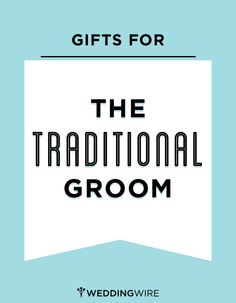 Practical gift ideas for the traditional groom - or any guy for that matter! #giftguide