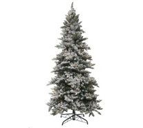 I always wanted a flocked tree and found this the perfect one for my space a couple years ago. Love this tree! Bethlehem Lights 6.5' Woodland Pine Christmas Tree w/Instant Power - H209391