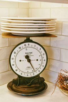 HOME DECOR – IDEAS – design chic: white kitchen tour shows decorative accents for the kitchen counter.