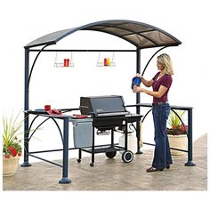New Deluxe Hardtop Grill Shelter Outdoor Patio Furniture