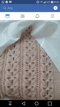 Knitting Videos, Baby Knitting Patterns, Lace Knitting, Crochet Patterns, Crochet Crafts, Crochet Projects, Crochet Stitches, Knit Crochet, Sweater Design