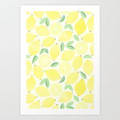 Summer Lemons Art Print by Tangerine-Tane - $17.00