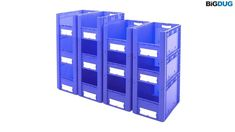 BiGDUG Euro Stacking Pick Bins Loft Storage, Workshop Storage, Shed Storage, Garage Storage, Storage Boxes, Locker Storage, Storage Ideas, Shelving, Euro