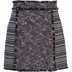 French Connection Pixel Tweed Mini Skirt, Multi (415 ILS) ❤ liked on Polyvore featuring skirts, mini skirts, bottoms, print skirt, textured skirt, short skirts, a line patterned skirt and tweed a line skirt