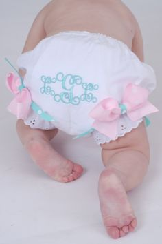 Personalized Monogrammed Baby Girls Diaper by LittleOnceBoutique, $15.95