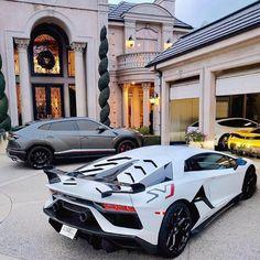 What's your dream garage?🔥 Cars:📸 -Lamborghini Aventador SVJ -Lamborghini Urus -Ferrari 488 Pista -Ferrari FF _ _ _ Yacht Luxury, Best Luxury Cars, Luxury Sports Cars, Luxury Travel, Carros Lamborghini, Lamborghini Aventador, Fancy Cars, Cool Cars, Honda Civic