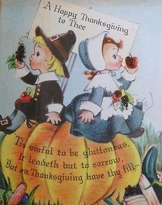 Cute Vintage Thanksgiving Card