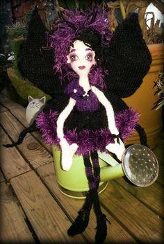 My #handmade #knitted #faerie #gothic #style xx http://helenfaerieart.moonfruit.com
