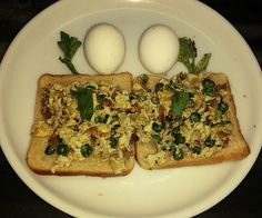 Scrambled egg with toast Recipe and Nutrition Chart - YumZen Nutrition Chart, Nutrition Store, Egg Toast, Coriander Leaves, Scrambled Eggs, Garam Masala, Wok, Roast, Spices