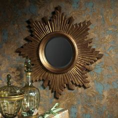 Star Burst Antique Gold Mirror