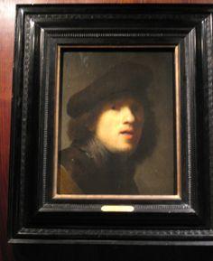 original Rembrandt Self Portrait, Rembrandt Paintings, Oil On Canvas, Mona Lisa, Old Things, The Originals, Artwork, Work Of Art, Auguste Rodin Artwork