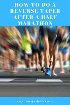 How to do a reverse taper after your half marathon and return to running. Avoid fatigue, injury, over training and return to running after your race. After Running, Running Tips, Running Training, Marathon Training, Cross Training, Marathon Taper, Jogging Tips, Stretches For Runners, Running Friends