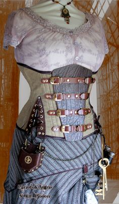 corset - love the mix of materials