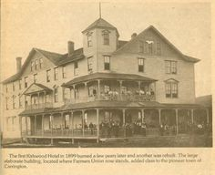 Kirkwood Hotel Built In It Burned A Few Years Later Another Rebuilt The Large Elaborate Building Added Cl To Pioneer Town Of Carrington Nd