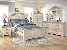 WARREN - 5pcs Traditional Cottage White King Poster Panel Bedroom Set Furniture
