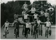 unicycle photography  | when this photo was taken can you identify anyone in the photo