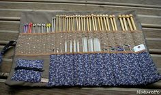 Discover recipes, home ideas, style inspiration and other ideas to try. Diy Knitting Needle Case, Diy Knitting Needles, Easy Knitting Patterns, Free Knitting, Couture Main, Denim Crafts, Creation Couture, Couture Sewing, Sewing Accessories
