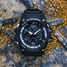 Zegarek Casio G-Shock Mudmaster G Shock Watches, Casio G Shock, Watches For Men, G Shock Mudman, Casio Watch, The 100, Ham Radio, Stuff To Buy, Black