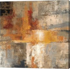 Great Art Now - Silver and Amber Crop by Silvia Vassileva Canvas Wall Art