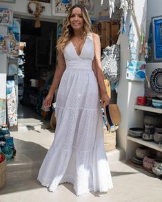 Pin by Karina da Silva on Vestidos verão in 2019 Mode Outfits, Dress Outfits, Casual Dresses, Fashion Outfits, Summer Dresses, New Look Fashion, White Fashion, African Fashion Dresses, African Dress