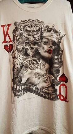 King and queen skull tattoos google search my tat for Matching king and queen tattoos