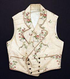 Vest, 1850s. French. Silk. Metropolitan Museum of Art.