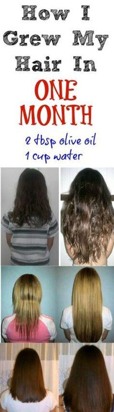 How to Grow Long, Healthy Hair - hair growth tips - Hair Growth Tips, Hair Care Tips, Curly Hair Styles, Natural Hair Styles, Colored Hair Styles, Natural Beauty, Hair Remedies, Natural Remedies, Hair Health