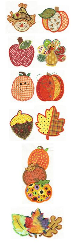 Embroidery | Free machine embroidery designs | Harvest Patchwork Applique