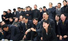 Mourners from the news of Kim Jong Il's death
