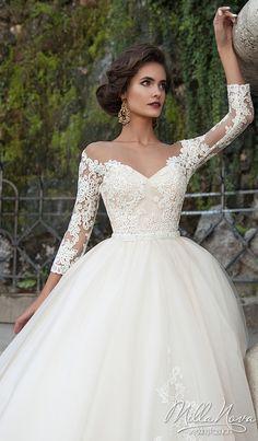 Milla Nova 2016 Bridal Collection - Diona 1 - Belle The Magazine Wedding Dresses Sydney, 2016 Wedding Dresses, Wedding Gowns, Party Dresses, Bateau Wedding Dress, Luxury Wedding Dress, Wedding Gallery, Vip Dress, Vintage Ball Gowns