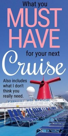 Important things to take on a carnival cruise