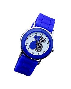 SAMGU Beiläufige Art und Weise Dame Mädchen cute Bärn Analog Quarz Armbanduhr Silikon Uhr Armbanduhren Uhren Farbe Blau - http://uhr.haus/samgu/samgu-geflochten-armband-quarzuhr-uhren-quarz-7
