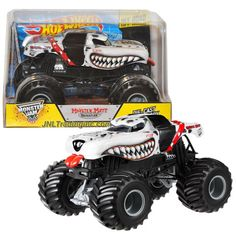 """Hot Wheels Year 2014 Monster Jam 1:24 Scale Die Cast Official Monster Truck Series #BGH28 - Feld Motor Sports MONSTER MUTT DALMATIAN with Monster Tires, Working Suspension and 4 Wheel Steering (Dimension - 7"""" L x 5-1/2"""" W x 4-1/2"""" H)"""
