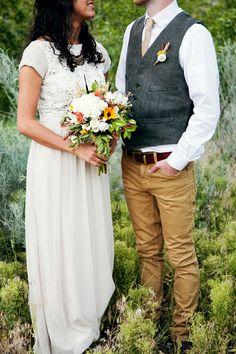 Casual groom attire for outdoor wedding | West Texas Wedding ...