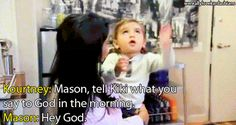 The funniest thing I have ever seen.  So cute. #mason #kuwtk