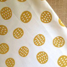 Seedpods in Golden Fabric Panel