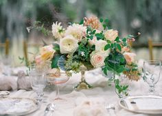 peach-wedding-centerpieces