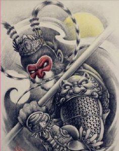 ลายสัก House Beautiful beautiful house names in sanskrit Great Tattoos, Body Art Tattoos, New Tattoos, Sleeve Tattoos, Samourai Tattoo, Monkey Tattoos, Buddha Tattoos, Asian Tattoos, Japanese Tattoo Designs