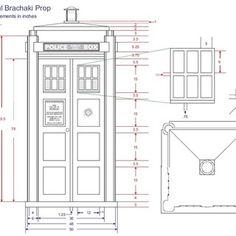 TARDIS Bookcase blueprints   Tardis Bookshelf with Sound and Lights