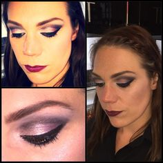 Black opium eye make up look created with the autumn collection palette, pretty metal