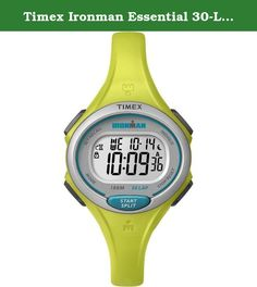 Timex Ironman Essential 30-Lap Watch - Lime. Case - Case Material: Poly Carbonate - Case Colour: Yellow - Crystal: Mineral crystal - Back: Srewed-in back Movement - Display Type: Digital - Movement: Quartz - Calendar: Weekday + Date - Complications: 4 (Day, Weekday, Month, 24-Hour Display) - Dial Colour: Silver - Dial Style: LCD - Illuminated: LED Strap - Strap Colour: Yellow - Clasp: Buckle clasp - Strap Material: Silcone Further Details - Product: Watch - Manufacturer: Timex Ironman -...