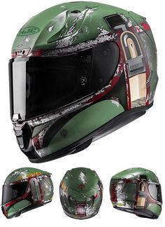 Star Wars Boba Fett Motorcycle Helmet