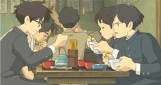 "Jiro eating lunch with Honjo and his other classmates - ""The Wind Rises"" (2013)"