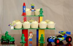 Lego Cupcakes...substitute the Toy Story pieces for Star Wars legos ;-)