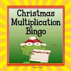 FREE Christmas Multiplication BingoIn Christmas Multiplication Bingo, students write products on their game boards and try to get 5 in a row to be the winner. This is a great math center, small or large group activity and reinforces key concept skills.This game also includes a multiplication chart/poster and blank foldable flashcards to give further practice.