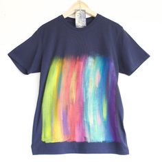 RAINBOW t shirt. 100% organic cotton t-shirt. Hand by Smukie