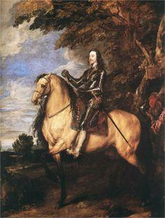 Anthony van Dyck, Charles I on Horseback, c. 1630s